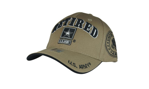 Official Licensed Military U.S.ARMY RETIRED Cap/Hat Embroidered Khaki