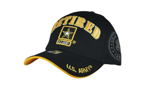 Official Licensed Military U.S.ARMY RETIRED Cap/Hat Embroidered Black