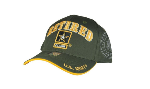 Official Licensed Military U.S.ARMY RETIRED Cap/Hat Embroidered Olive