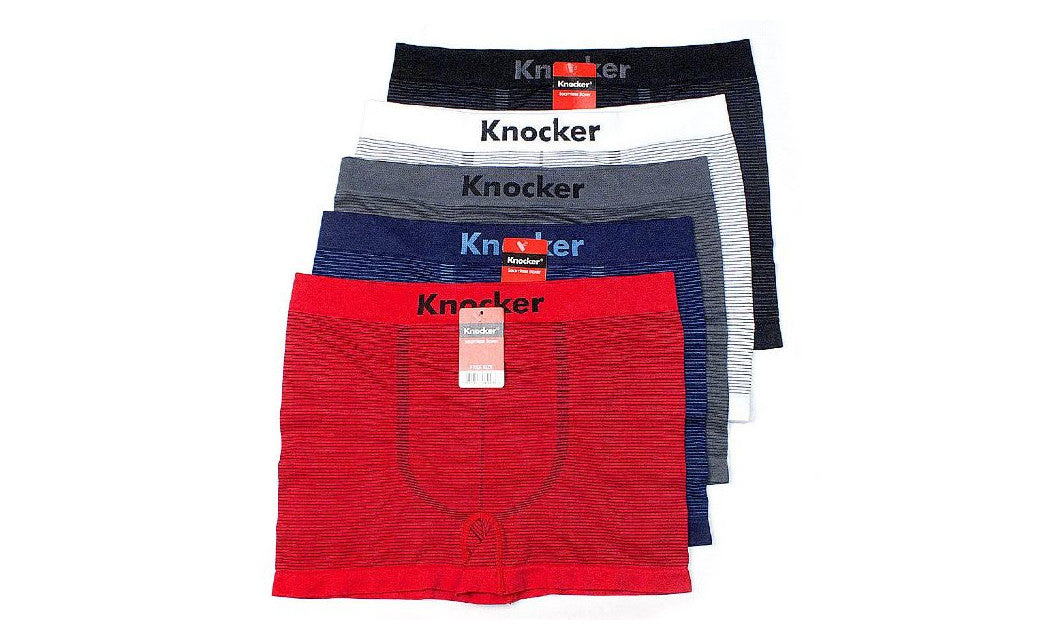 Knocker's Men Athletic Seamless Boxer Briefs (6 Pack) U PINNED