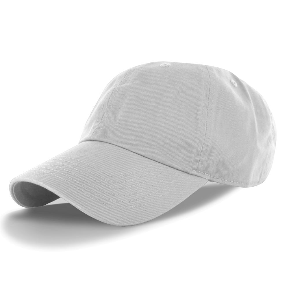 Classic Cotton Dad Hat Adjustable Plain Cap. Polo Style Low Profile (2 Pack)