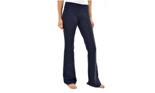 Blanca Basics Women's Cotton Boot Cut Flared Yoga Pants NAVY