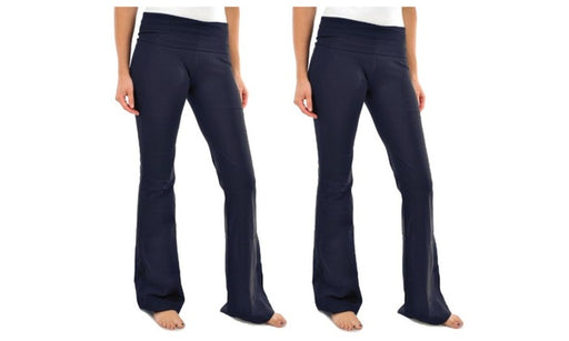 Women's Yoga Pant Blanca Boot cut Flared Navy Color (Pack of 2)