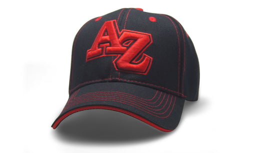 State Initals Arizona Black n Red