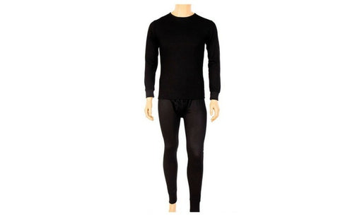 Knocker's Men's 2pc Long Thermal Underwear Set - BLACK