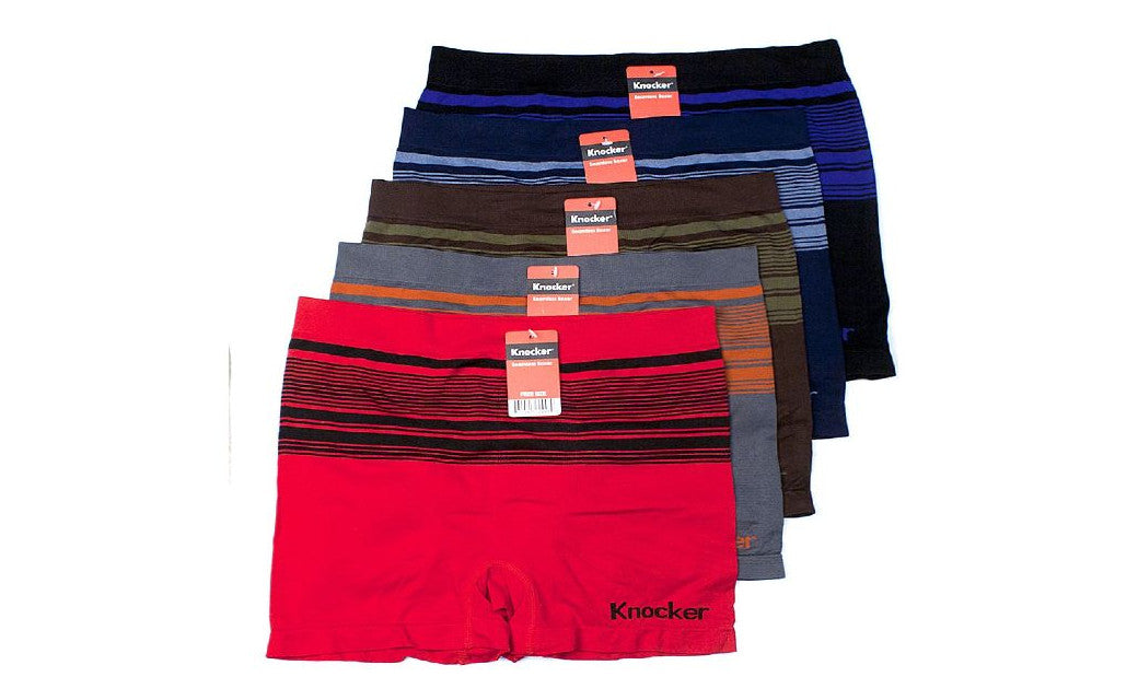 Knocker's Men Athletic Seamless Boxer Briefs (6 Pack) DAKOTA