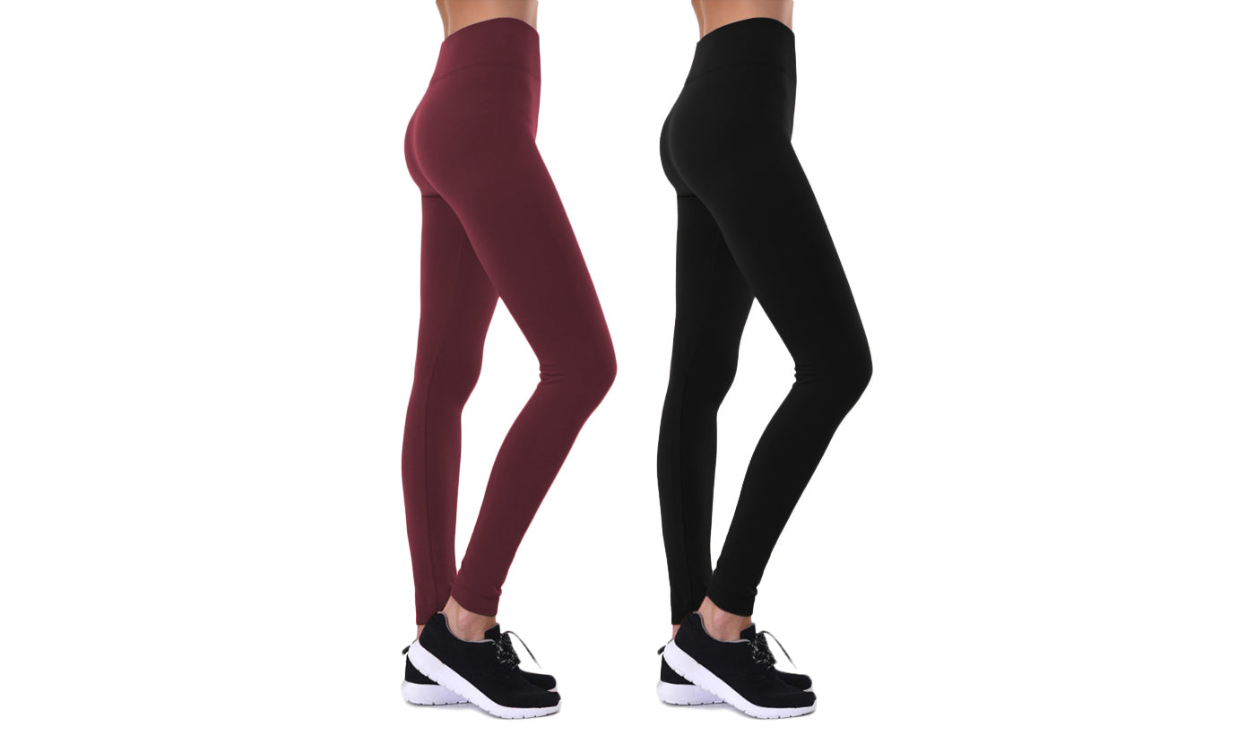 Blanca Women's Premium Fleece-Lined Leggings (2-Pack)
