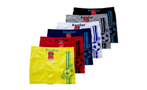 Knocker's Men Athletic Seamless Boxer Briefs (12 Pack) FOOTBALL