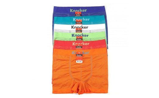 Knocker's Men Athletic Seamless Boxer Briefs (12 Pack) PIN STRIPES