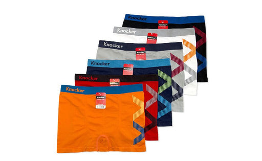 Knocker's Men Athletic Seamless Boxer Briefs (12 Pack) V BAND