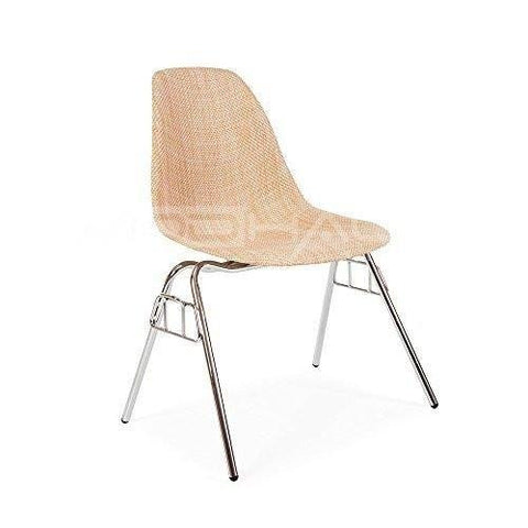 Mid Century Modern DSS Stacking Chair with Chrome Steel Base - Inspired by  Eames Design - PREMIUM QUALITY Satin Finish - Default Title / 2