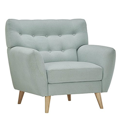 Mid Century Modern Curved Tufted Upholstered Accent Club