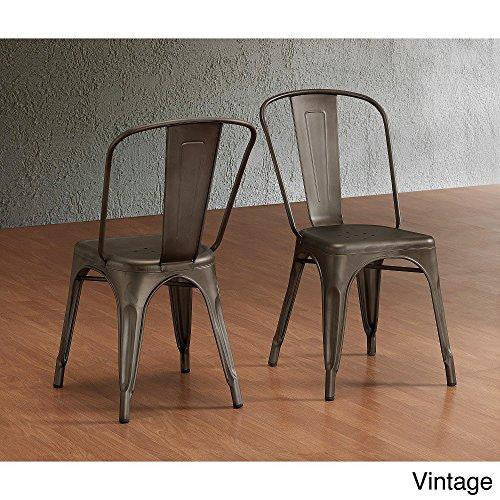 Tabouret Bistro Steel Side Chairs (Set of 2)