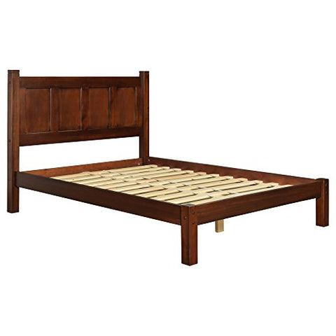 reputable site fcd1e c2417 Modern Shaker Solid Wood Queen Panel Platform Bed (Cherry Finish)