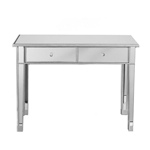 Modern Mirrored Accent Console Hall Table with 2 Drawers