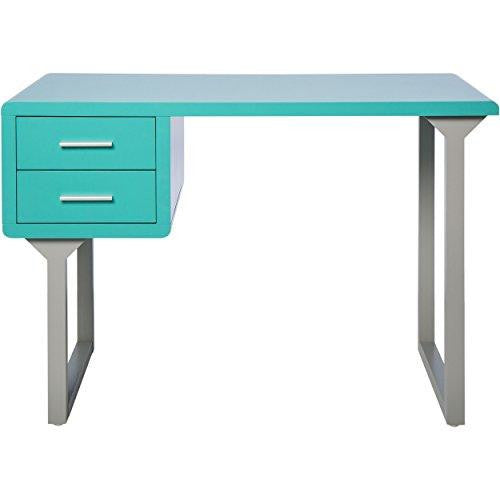 Modern Retro Style Turquoise And Gray Writing Desk With 2