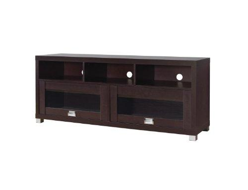 Modern Espresso Wenge Chocolate Wooden TV Media Stand for 65'' TVs with Storage