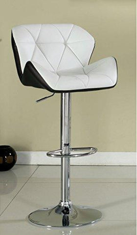 Remarkable Modern Swivel Adjustable Counter Height Bar Stools With Faux Leather Seat Chrome Pedestal Base White Caraccident5 Cool Chair Designs And Ideas Caraccident5Info