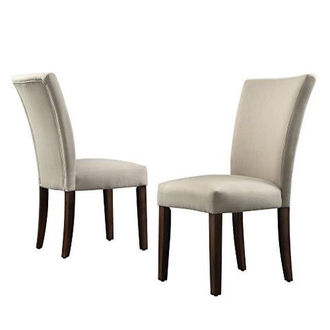 Prime Modern Gray Fabric Parsons Style Dining Chairs Wooden Legs Set Of 2 Ncnpc Chair Design For Home Ncnpcorg