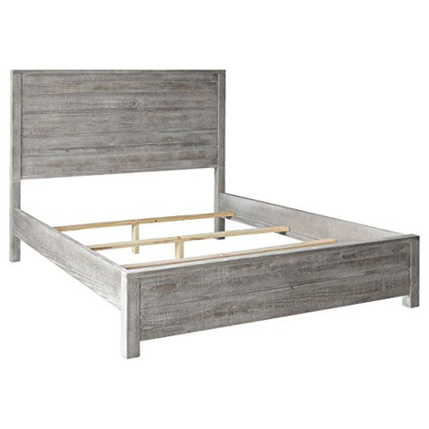 Contemporary Rustic Queen Size Solid Wood Panel Bed (Rustic Gray)