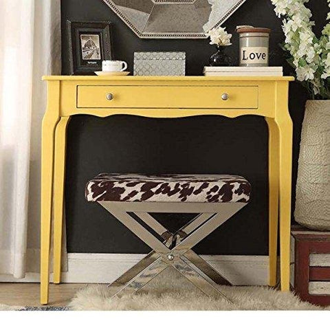 Modern Country Style Narrow End Sofa Table Console Rectangle Wood Accent with Storage Drawer