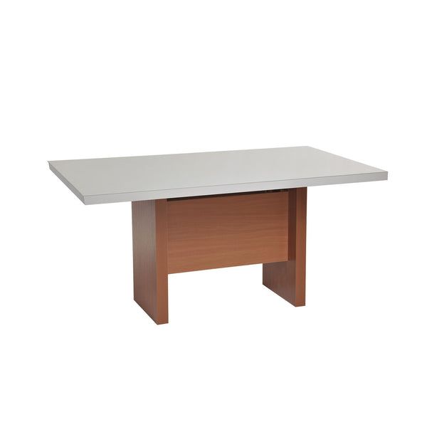 Contemporary Modern Rectangular Shaped Glass Top Dining Table (Off White)