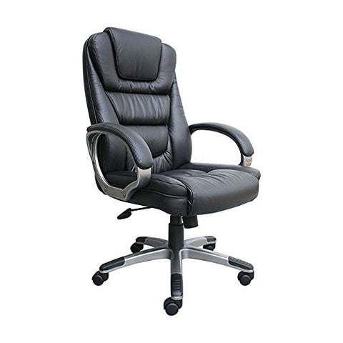 Modern Black Bonded Leather Upholstery Executive Office Chair