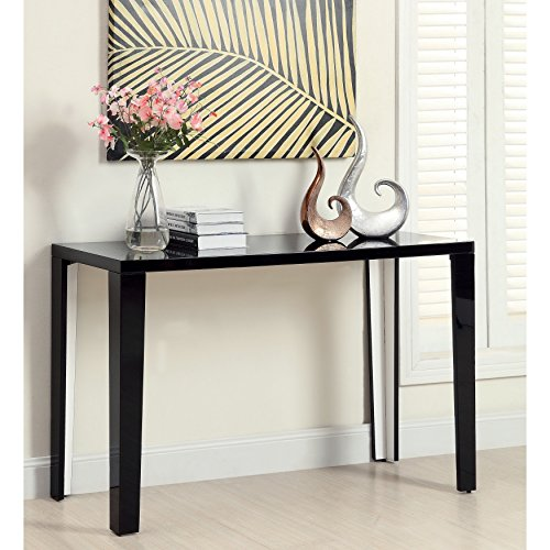 Euro Modern Black Gloss Lacquer Console Sofa Hallway Accent Table