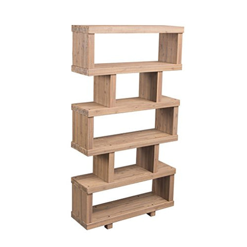 Contemporary Wooden Freestanding Display Wall Divider Shelf Unit Bookcase