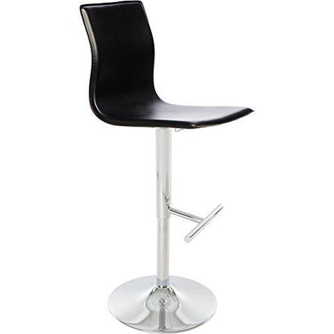 Amazing Mid Century Modern Faux Leather Upholstery Swivel Stool With Chrome Metal Base Black Theyellowbook Wood Chair Design Ideas Theyellowbookinfo