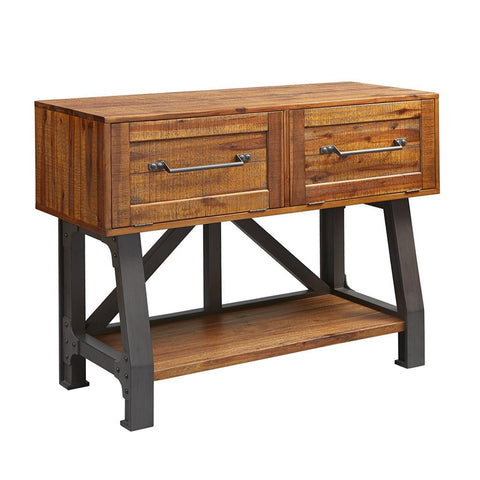 Industrial Rustic Wood Sideboard Buffet Console with Drawers