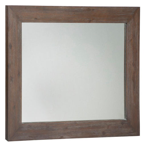 Rustic Modern Espresso Acacia Wood 40 x 30 in. Wall Mirror