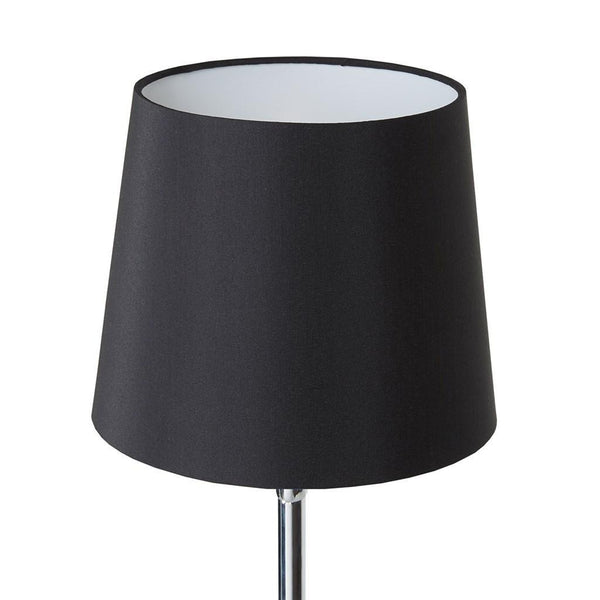 Modern Metal Slender Table Lamp with Square Base (Black)