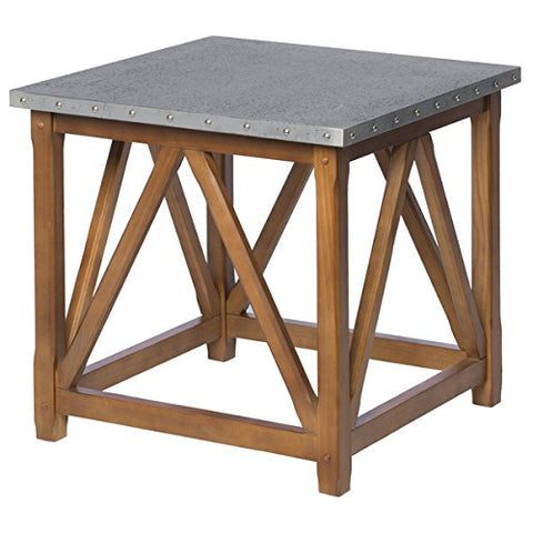 Top Weathered Oak Trestle Coffee Tables Patio Furniture