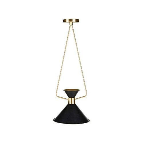 Modern Black Metal Pendant Ceiling Lamp with Gold Metal Fixture