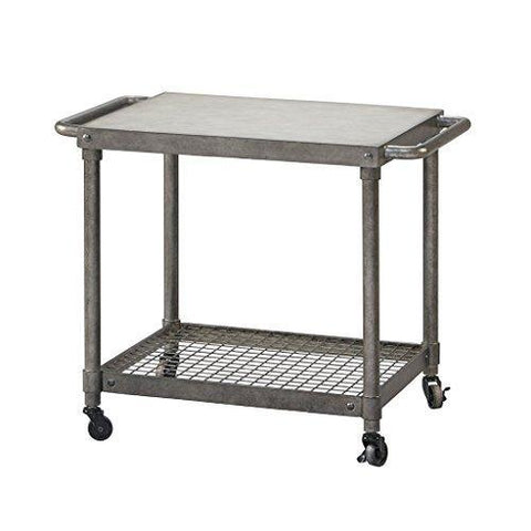 Modern Rustic Industrial Concrete And Metal Accent End Side Table - Industrial concrete side table