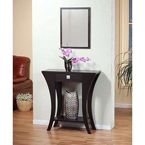 Stupendous Modern Dark Brown Narrow Sofa Table Console With Bottom Shelf And Storage Drawer Pabps2019 Chair Design Images Pabps2019Com