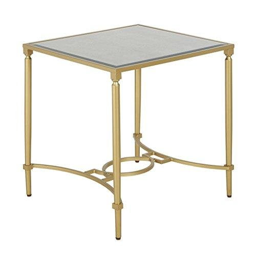 Classic Antique Gold Living Room Accent Occassional Accent End Side Table