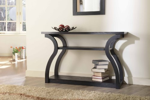 Modern Black Console Hallway Sofa Table Credenza - Perfect for your Foyer, Living Room or Bedroom