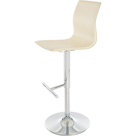 Fine Contemporary Style Swivel Adjustable Height Counter Bar Stools With High Back And Upholstery Seat Chrome Finish Metal Pedestal Base Cream Ibusinesslaw Wood Chair Design Ideas Ibusinesslaworg