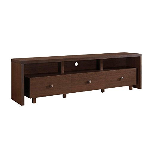 Techni Mobili 70'' TV Stand with 3 Drawer Hickory