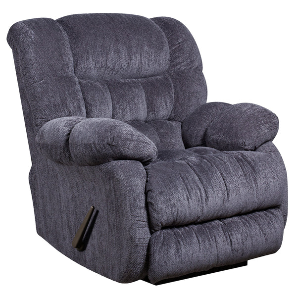 Contemporary Columbia Indigo Blue Microfiber Rocker Recliner