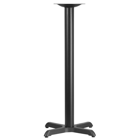 Restaurant Grade 22'' x 22'' Restaurant Table X-Base with 3'' Dia. Bar Height Column