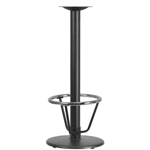 Restaurant Grade 18'' Round Restaurant Table Base with 3'' Dia. Bar Height Column and Foot Ring