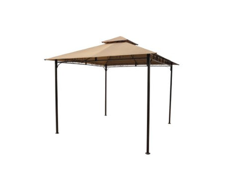 International Caravan Vented Outdoor Canopy Gazebo Color: KHAKI