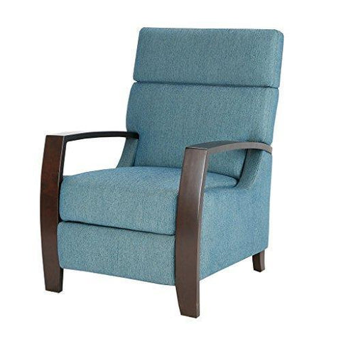 Fabulous Mid Century Modern Wood Blue Upholstered Recliner Sofa Chair With Solid Wood Legs Ibusinesslaw Wood Chair Design Ideas Ibusinesslaworg