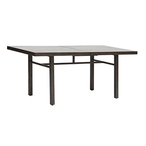 Industrial Rustic Concrete Veneer Top 72 Inch Dining Table with Metal Frame