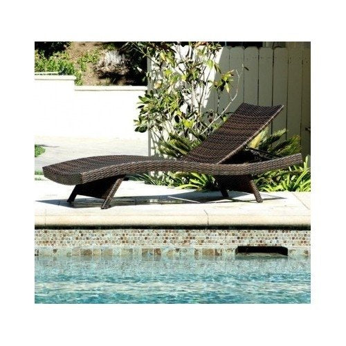 Home Toscana Outdoor Brown Wicker Lounge Pool Patio Chairs Loungers Chaise Furniture
