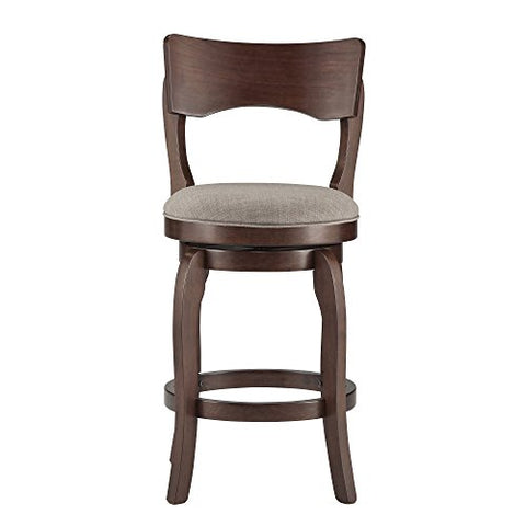 Terrific Contemporary Brown Oak Kitchen Stools Counter Height With Back 24 Inch Linen Upholstery Seats With Swivel Forskolin Free Trial Chair Design Images Forskolin Free Trialorg