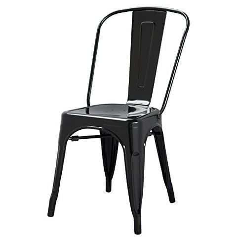 ModHaus Black Xavier Pauchard Tolix A Style Chair in Powder Coat Finish Galva...